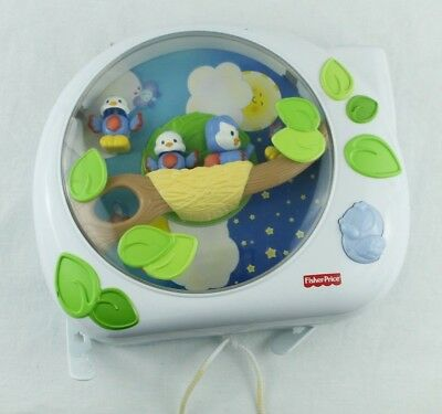 Fisher Price FLUTTERBYE DREAMS Bird Soother Music Light Projector Crib Toy 2004