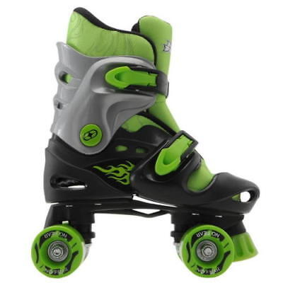 No Fear Quad Skates Rollers Wheeled Kids junior Trainer Skate Shoes Boys Outdoor