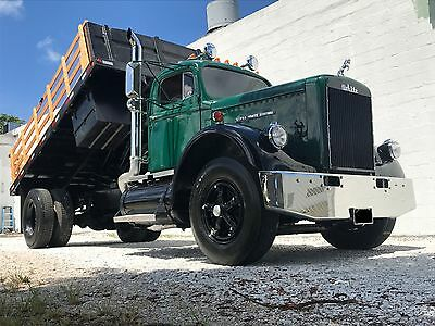 1963 White G80  1963 White Super Mustang Flat Bed Dump GMC Chevy Ford Antique