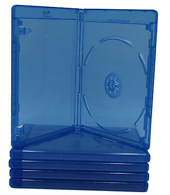 (3) Empty Blu-Ray DVD Case 12mm 1-Disc Single With LOGO Empty Replacement Cases