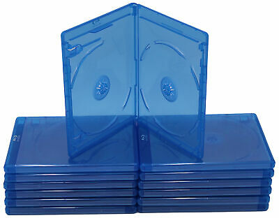 New (6) Empty Blu-ray DVD Case 2mm 1-Disc Single w/ LOGO Empty Replacement Cases