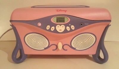 DISNEY PRINCESS PINK CD PLAYER BOOMBOX MUSICAL JEWELRY BOX P500B