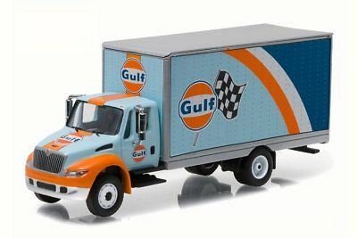 Gulf Oil 2013 International Durastar 4400 Box Van 1/64 Diecast Car Greenlight