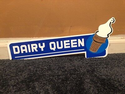 """DAIRY QUEEN ICE CREAM CONE 12"""" METAL FAST FOOD RESTAURANT, GAS OIL SIGN vintage?"""