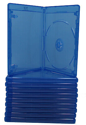 (6) Bluray Replacement Cases 12mm 1 Disc Single With Logo Premium Movie Storage
