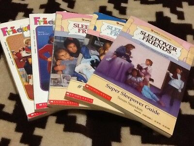Vintage Lot of 5 Sleepover Friends & Friends4ever Chaptr Books RL4 SC Scholastic