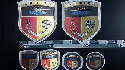 "mariah boat Emblem 4,1""x4,7"" gold Epoxy Stickers Resistant to mechanical shocks"