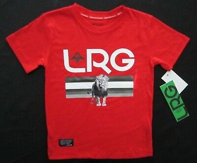 LRG (Lifted Research Group) Toddler Boys Red Short Sleeve Graphic T-Shirt Tee