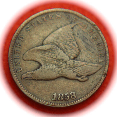 1858 Flying Eagle One Cent - 1C - No Reserve!