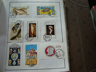 MIDDLE EAST - 8 stamps canceled stamp