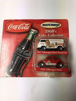 Coca Cola Matchbox 1960's VW car collection, New in Box