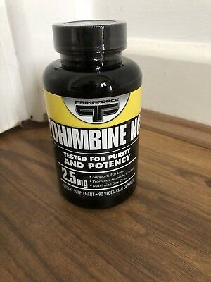 PRIMAFORCE YOHIMBINE HCL POTENT FAT BURNER 90 X 2.5mg (NEW/SEALED) EXP 11/2019