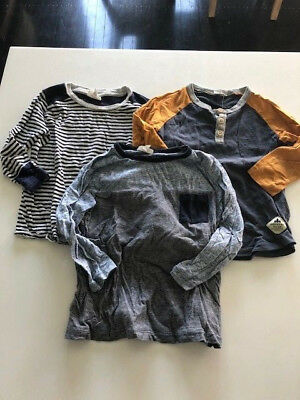 BULK boys tops - COUNTRY ROAD (size 2) and SEED x2 (size 2-3) long sleeve tops