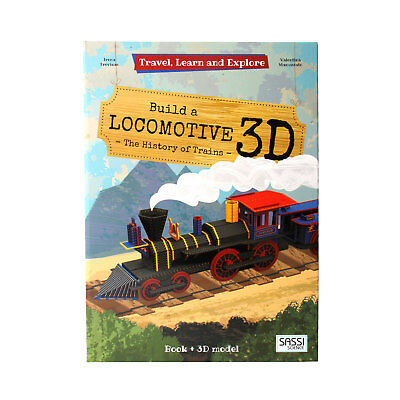 Build a 3D Locomotive Interactive Book and 3D Model Educational ECO FRIENDLY