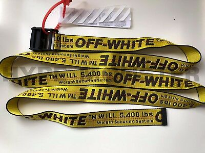 Off-White style c/o Virgil Abloh - Yellow Industrial Belt Off White OW supreme