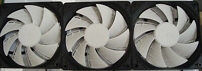 3X 120mm PWM Fan 1800RPM CPU / Computer Cases Black / White LED
