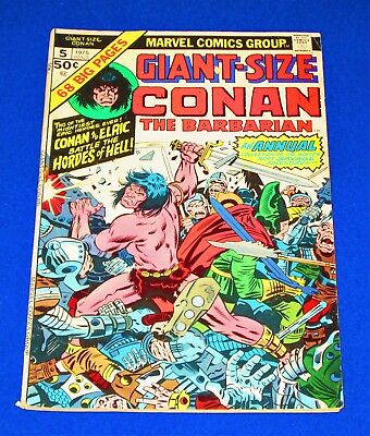 Giant-Size CONAN THE BARBARIAN Issue #5 [Marvel 1975] VG+ or Better!