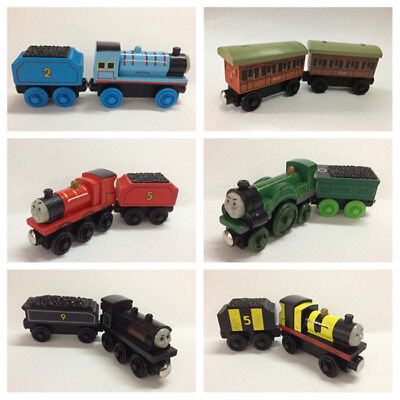Thomas & His Friends Wooden Train Toy Kids Magnetic Train & Tender Set Boys Gift