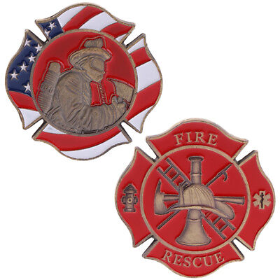 American Firefighting Mark Fire Commemorative Coin Collection Art Souvenir Gift