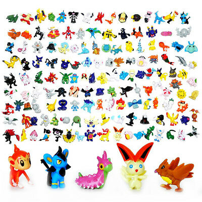 24-144Pcs Pokemon 2-3cm Action Figures Pocket Monster Kid Toys Random Set Gifts