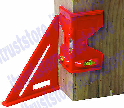 2 Pc Fence Post Pipe Stud Level Leveler Tool Upright Angle Upright Leveling