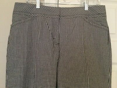 Charter Club Classic Fit Black/White Checkered Cropped Pants - Size 10