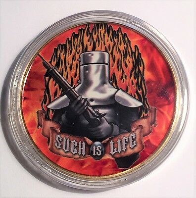 """""""NED KELLY"""" Colour Printed 999 24k Gold plated coin, Such Is Life (13)"""