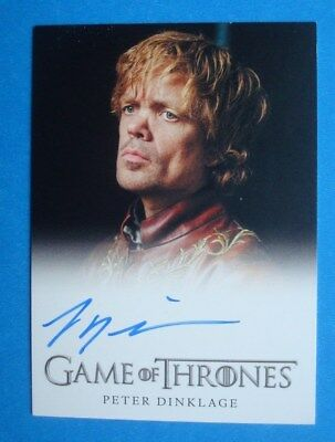 2013 GAME Of THRONES Season 2 Auto/AutoGraph Peter DINKLAGE Tyrion LANNISTER