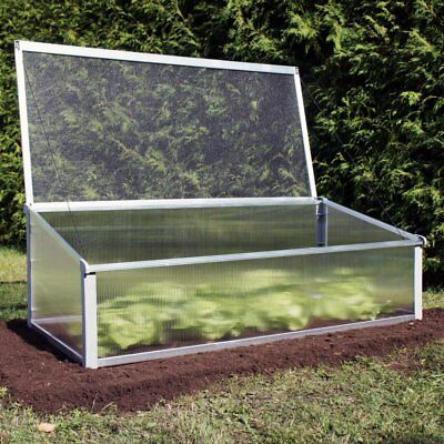 Juwel Year-Round Cold-Frame Greenhouse, Silver, 4.1