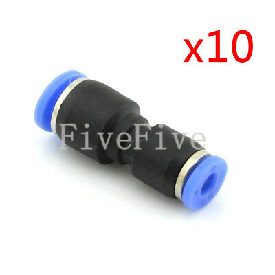 10Pcs 6mm to 4mm Air Pneumatic Pipe Quick Release Connector Coupler Fitting