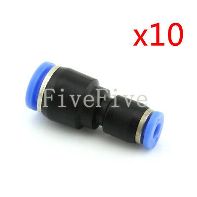 10Pcs 8mm to 4mm Air Pneumatic Pipe Quick Release Connector Coupler Fitting