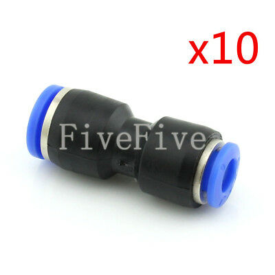 10Pcs 8mm to 6mm Air Pneumatic Pipe Quick Release Connector Coupler Fitting