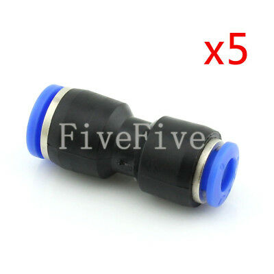 5Pcs 8mm to 6mm Air Pneumatic Pipe Quick Release Connector Coupler Fitting