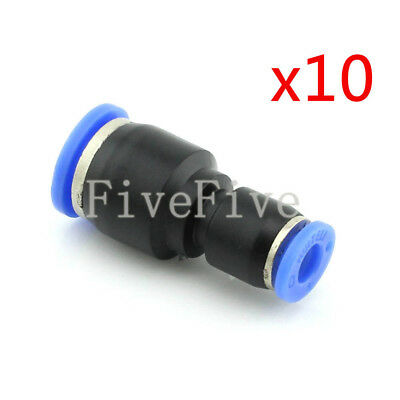10Pcs 10mm to 6mm Air Pneumatic Pipe Quick Release Connector Coupler Fitting