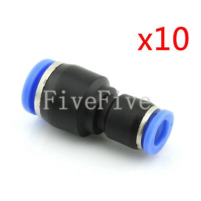 10Pcs 12mm to 8mm Air Pneumatic Pipe Quick Release Connector Coupler Fitting