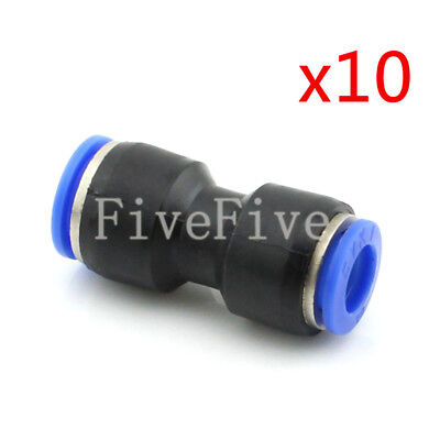 10Pcs 12mm to 10mm Air Pneumatic Pipe Quick Release Connector Coupler Fitting