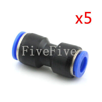 5Pcs 12mm to 10mm Air Pneumatic Pipe Quick Release Connector Coupler Fitting