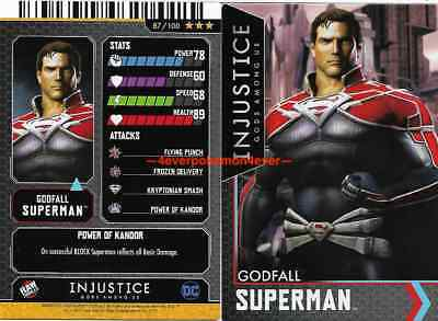 Injustice Arcade Dave and Busters Prison Superman FOIL 89//100