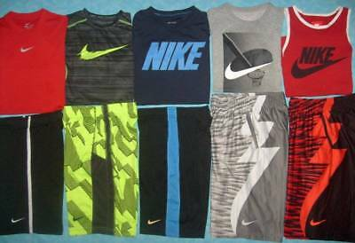 """ALL"" NIKE  10 PC Lot Boy's NIKE Size Medium Shorts & Shirts - Awesome Lot!"
