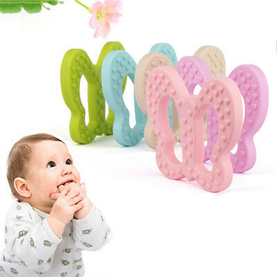 Butterfly-shaped Baby Teething Toy Food Grade Silicone Teether Grind Babys Teeth