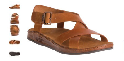 79f74659682 Chaco Wayfarer Rust Leather Ankle Strap Comfort Sandal Women s sizes 5-11  NEW!