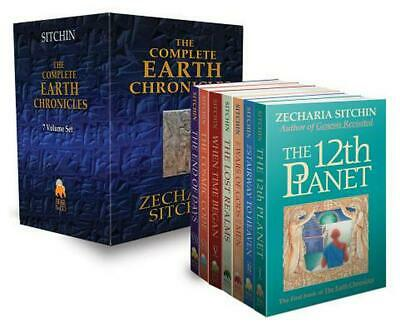 The Complete Earth Chronicles by Zecharia Sitchin (English) Hardcover Book Free