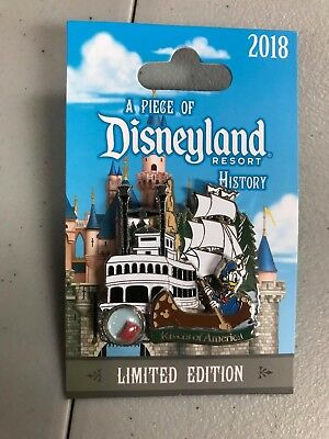 Disney Parks Piece of History Rivers of America 2018 Pin LE 2000 Pin NEW