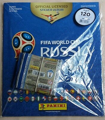 Panini World Cup 2018 Russia Sealed Big STARTER PACK Softcover Album Brazil