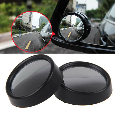 2pcs Car Rearview Mirror Blind Spot Side Rear View Convex Wide Angle Adjustable
