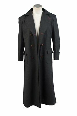 Sherlock Holmes Wool Trench Coat Cosplay Costume Business Long Cape Outfit Suit