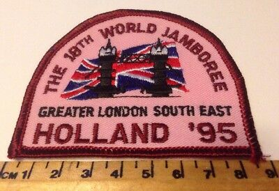 Vintage 18th World Jamboree Holland '95 Greater London South East Scout Badge