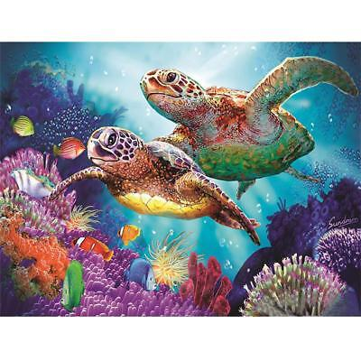 Sea Turtle Pattern 5D Diamond Canvas Embroidery Painting Cross Stitch Home Decor