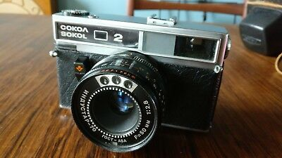 Lomo Sokol 2 Rangefinder Camera with Industar 70 Lens & Original Case