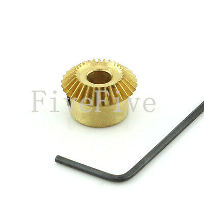 5/6mm Bore 30T 0.5M Metal Umbrella Tooth 90° Pairing Bevel Gear 30 Teeth